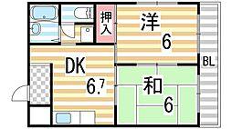 コスモス21パートI[3A号室]の間取り