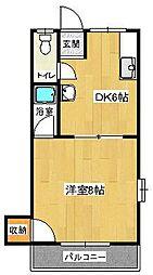 福岡県久留米市梅満町の賃貸アパートの間取り