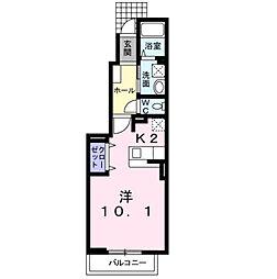プラスパーII[1階]の間取り