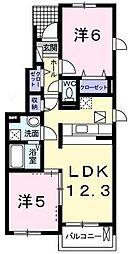 アルカンシエルA棟[1階]の間取り