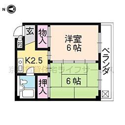 エスプリト横山[305号室]の間取り