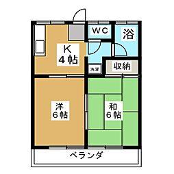 駒形ハイツ[2階]の間取り