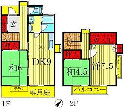 [テラスハウス] 千葉県流山市野々下3丁目 の賃貸【/】の間取り