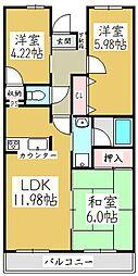 ラプラージュ[3階]の間取り