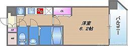ファーストフィオーレ天王寺筆ヶ崎EYE 12階1Kの間取り