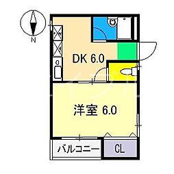 おびさんロードビル[6階]の間取り
