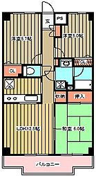 チェリーコート武蔵小金井[502号室]の間取り