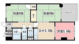 プルーリオン勧修寺[506号室]の間取り