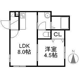 LACUS[105号室]の間取り