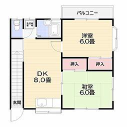 出口アパート[B号室]の間取り