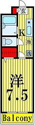 MfマンションII[105号室]の間取り
