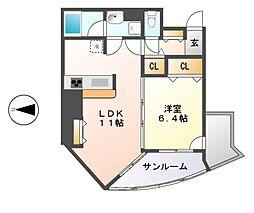 プロシード金山II[5階]の間取り