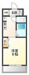 ユニテソリステ津門川[5階]の間取り