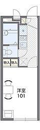 JR阪和線 北信太駅 徒歩12分の賃貸アパート 2階1Kの間取り