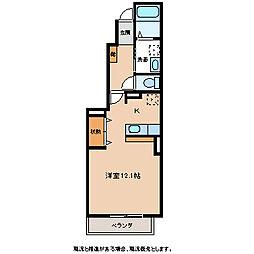 エアリースクエアー[1階]の間取り