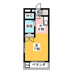 Oasis  Mizuho[3階]の間取り