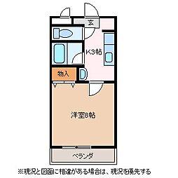 ハイツミレニアム[1階]の間取り