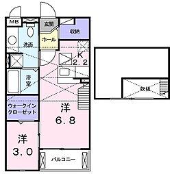 アルファアネックスII[2階]の間取り