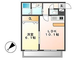 シェルジェ覚王山[3階]の間取り