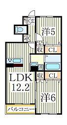 ボナールメゾン[1階]の間取り