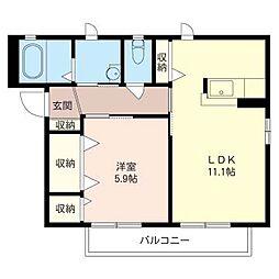 レイクロワール III[1階]の間取り
