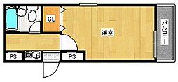 マンションリヴィエラ[4階]の間取り