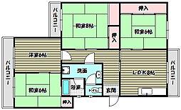泉北鴨谷台第1次住宅[2階]の間取り