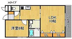 サクセス貝田[2階]の間取り