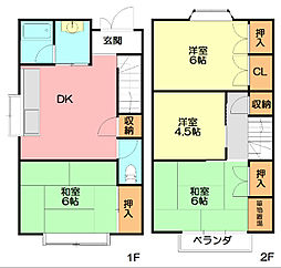 [一戸建] 神奈川県藤沢市弥勒寺1丁目 の賃貸【/】の間取り