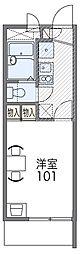 京阪本線 守口市駅 徒歩15分の賃貸マンション 2階1Kの間取り