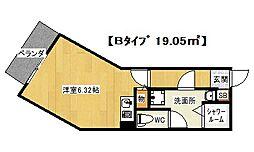 大阪府八尾市北本町2丁目の賃貸マンションの間取り