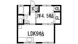 ルネHIRAI[1階]の間取り