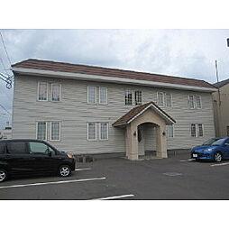 北海道室蘭市東町1丁目の賃貸アパートの外観