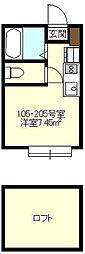 Axia Court Kishiya[105号室号室]の間取り