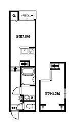 NEXSTAGE姫島[2階]の間取り