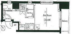 フォルトゥナ月島[704号室]の間取り