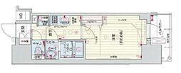 Osaka Metro谷町線 四天王寺前夕陽ヶ丘駅 徒歩5分の賃貸マンション 4階1Kの間取り