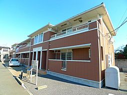 千葉県松戸市金ヶ作の賃貸アパートの外観
