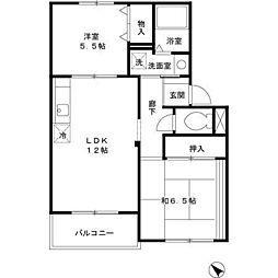 グッドライフ21 B棟[1階]の間取り
