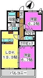 ソフィアII[3階]の間取り