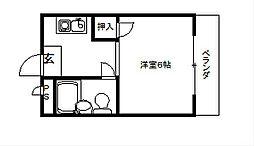 マンションDEN[507号室]の間取り