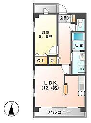 ソラナ平安[4階]の間取り
