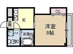 第9薩摩マンション[3階]の間取り