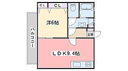 福岡県福岡市西区姪の浜5丁目の賃貸マンションの間取り