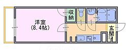 クレイノセントコージア山崎[1階]の間取り