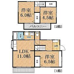 [一戸建] 千葉県千葉市中央区川戸町 の賃貸【/】の間取り