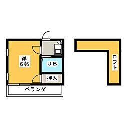 レオパレス小田井[1階]の間取り
