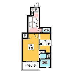 ブリッサ・T[1階]の間取り