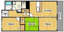 マンションナシマ[2階]の間取り