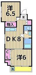 プランドール上田[4階]の間取り